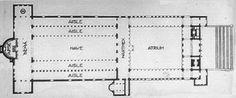 7- plan basilical de saint pierre de Rome, s'apparentant à celui de la basilique de saint Victor de Marseille du Veme siècle