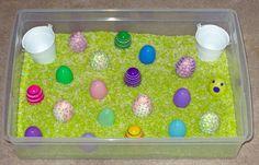 Ways to use an Easter sensory bin