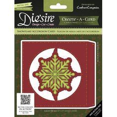 Die sire Create a Card Snowflake Accordion Die If you love making cards that could become more like keepsakes then the fabulous accordion dies from
