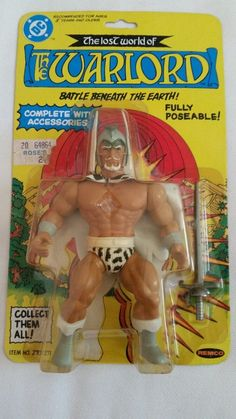 Remco The Warlord Action Figure from 80s ebay