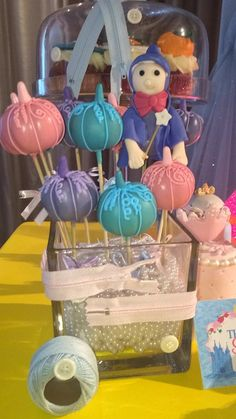 Adorable pumpkin cake pops at a Cinderella Princess Birthday Party!  See more party ideas at CatchMyParty.com!