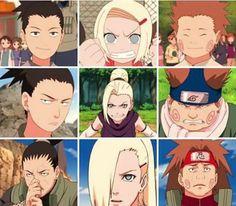 Team Asuma Sarutobi, Ino , Shikamaru e Choji Achimichi - Boruto, Naruto Shippuden Sasuke, Shikamaru, Hinata Hyuga, Kakashi, Shikatema, Naruhina, Anime Naruto, Manga Anime
