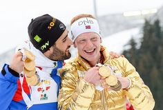 Martin Fourcade (FRA), Johannes T. Boe (NOR) Work Hard In Silence, Super Sport, Winter Sports, Favorite Person, Brother, Guys, Couple Photos, Images, People