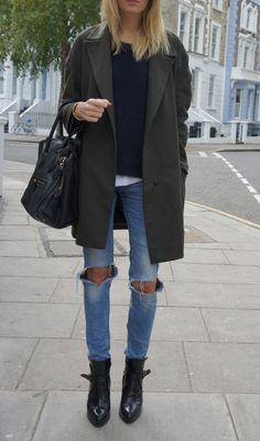 distress AND boyfriend coat. Perfec.