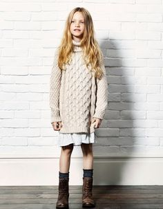 what to wear for fall family photos - little girl - love the sweater with the skirt and the boots