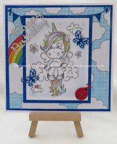 Tinyrose's Craft Room: Using the Sweet Unicorn image from Bugaboo Digi stamps