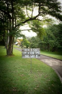 Not so rustic - but a sign is needed. Wedding Themes, Wedding Styles, Our Wedding, Wedding Venues, Wedding Ideas, Wedding Stuff, Athol Hall, Here Comes The Bride, Good Times