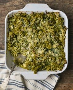 Spinach Pasta Casserole with Pesto - possible Thanksgiving dish
