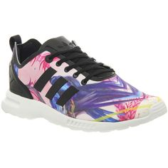 Adidas Zx Flux Smooth (w) (410 BRL) ❤ liked on Polyvore featuring shoes, sneakers, floral smooth, hers trainers, trainers, floral print sneakers, floral sneakers, black sneakers, adidas and black floral shoes
