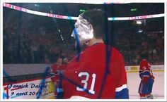 Pie in the face for Carey Price to celebrate his record braking game!