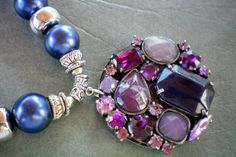 February amethyst and purple explosion Multi by OutsiderArtJewelry, $25.00