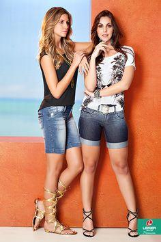 Lemier Jeans Premium | Summer 2015 | Verão 2015 | bermuda jeans feminina; jeanswear; blusa estampada feminina; estamparia; tendência; trend; look feminino.