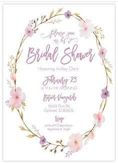 13 Bridal Shower Templates That You Won't Believe Are Free: Free, Printable Bridal Shower Invite from Wedding Chicks