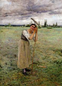 Jules Bastien-Lepage (Jules Bastien Lepage) (1848-1884)La Faneuse au ReposOil on canvas-1881