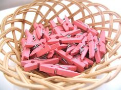 100 Mini Clothespin 100 Baby Pink 25x3mm by sugarcottonstudio, $16.00