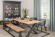 Krzesła do jadalni - piękne i wygodne modele - Galeria - Dobrzemieszkaj.pl Kitchen Dining, Dining Bench, Dining Chairs, Dining Room, Ikea, Furniture, Home Decor, Decoration Home, Table Bench