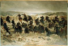 Siège de Sébastopol, chasseurs à pied de la Garde impériale à la tranchée du Mamelon-Vert