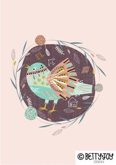 Another old bird I found when sorting out my hard-drive.  By bettyjoydesignstudio