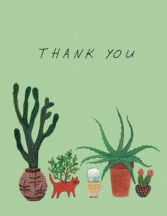 cactus roundup thank you card by beccastadtlander on Etsy