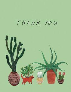 cactus roundup thank you card van beccastadtlander op Etsy, $3.95