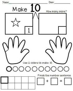 Common Core: Make 10 F@ Kinderlove and Learning