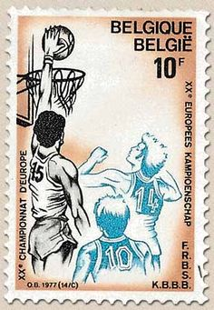 Belgian stamps Culture Basketball