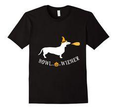 Amazon.com: Dachshund Howl-o-Wiener Halloween Shirt: Clothing