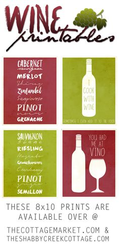 Free Printable Art: The Wine Collection - The Cottage Market