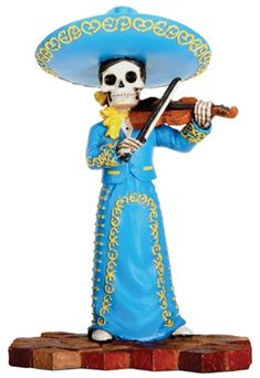 Dia de Los Muertos... A girl version with a guitar instead.. That would be me!!