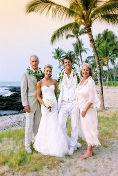 All White Destination Beach Wedding In Hawaii