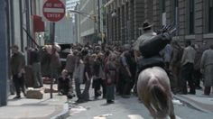 "Rick discovers the zombie horde in Atlanta. Review: The Walking Dead, Season 1, Episode 1: ""Days Gone Bye"" (ftee blog post)"