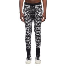 Liaima leggings from the F/W2016-17 Marcelo Burlon County of Milan collection in black and white