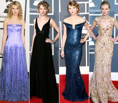 Taylor Swift's Grammys looks from year's past. #GRAMMYs #TaylorSwift