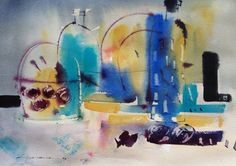 in bleu acuarela sobre arches 38 x 49 Timeline Photos, Still Life, Polo, Watercolor, Arches, Study, Painting, Art, Watercolor Painting