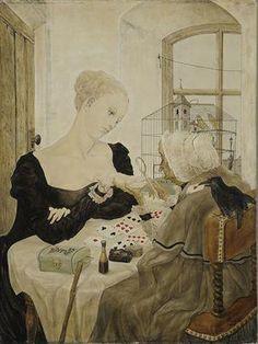 Foujita - La cartomancienne Parlor Games, Gypsy, Queen Of Spades, Fortune Telling, Tarot Readers, Tarot Spreads, Conceptual Art, Tarot Cards, Fantasy Art