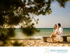 Jorge Rodriguez Photography - Destination Wedding Photography & Portrait based in Playa del Carmen, covering Tulum, Cozumel, Isla Mujeres, Cancun & Riviera Maya Mexico  - Playa del Carmen DestinaPhotographer: Samira & Farzan planned their weekend holidays at Grand Sunset Princess, they were so sad because we were about to cancel the engagement session due a big storm was passing by Playa del Carmen, we agreed to meet only if the rain stops or we must cancel it. So I phoned them around 5:00…