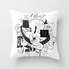 Oktopus Throw Pillow by Bishok - $20.00
