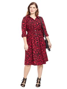Delsee Dress In Ruby Abstract