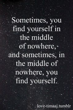 Losing yourself to find yourself