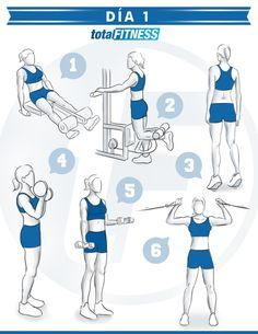 Plan of of 5 days for girls who want to be in shape! Step Workout, Workout Days, Gym Workout For Beginners, Pilates Workout, Gym Workouts, Fitness Motivation, Gym Girls, Gym Time, Going To The Gym