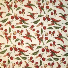 Papier tassotti motifs piments rouge et vert 50x70cm 184