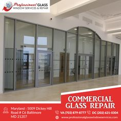 Professional Glass Window Services and Repair is one of the best all types of commercial glass repair and replacement, storefront glass repair, skylight repair or insulated or tempered services in Virginia, Washington DC, and Maryland. For more information visit us at Professional Glass Window Services and Repair #CommercialGlassRepair #DCCommercialGlassRepair #EmergencyRepairServices #ResidentialGlassRepair #DCResidentialglassrepair #InsulatedGlassReplacement #BrokenGlassRepair… Storefront Glass, Glass Repair, Glass Replacement, Store Fronts, Skylight, Washington Dc, Maryland, Virginia, Commercial