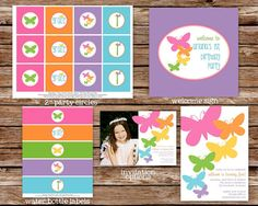 Printable Butterfly Birthday Party Package by thepaperblossomshop, $40.00