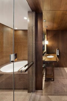 "14 Mind-Blowing Hotel Bathrooms We Could Live In #refinery29  http://www.refinery29.com/best-hotel-bathrooms#slide-13  Andaz Tokyo Toranomon HillsThe bathrooms at this design-centric hotel are evocative of a traditional Japanese bathhouse — except they feature sleek faucets and futuristic ""smart toilets"" with electronic bidets. ..."