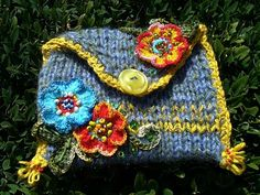 BosaBeta / Pondelkový večer Knit Crochet, Crochet Hats, Coin Purse, Purses, Crocheting, Totes, Baskets, Leather, How To Wear