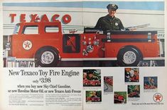 1962 - Texaco Toy Fire Engine Truck