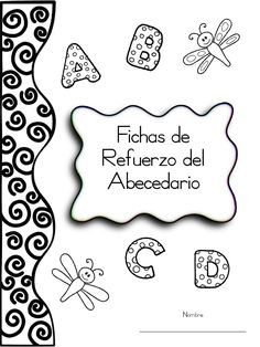 "Cover of ""Cartilla abecedario"" Teaching Spanish, Teaching Kids, Kids Learning, Abc Centers, Pre K Activities, School Items, Preschool At Home, Preschool Lessons, Pre Writing"