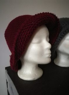 Kaufe meinen Artikel bei #Kleiderkreisel http://www.kleiderkreisel.de/accessoires/hute/163809225-gestrickter-hut-burgunder-mutze-hutmutze