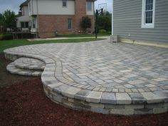 Innovative Ideas Cost Of Patio Pavers Amazing Brick CantonPlymouthNorthvilleNovi. - Innovative Ideas Cost Of Patio Pavers Amazing Brick CantonPlymouthNorthvilleNovi MichiganRepair - Concrete Patio Designs, Paver Designs, Backyard Patio Designs, Backyard Landscaping, Desert Backyard, Florida Landscaping, Patio Decks, Large Backyard, Backyard Ideas