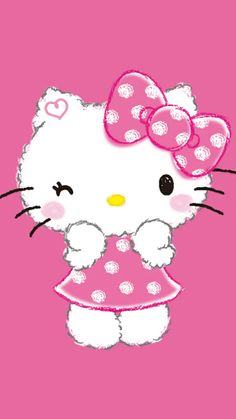 Pink Wallpaper Backgrounds, Hello Kitty Backgrounds, Sanrio Wallpaper, Hello Kitty Wallpaper, Hello Kitty Pictures, Sanrio Characters, Fictional Characters, Illustration, Kawaii